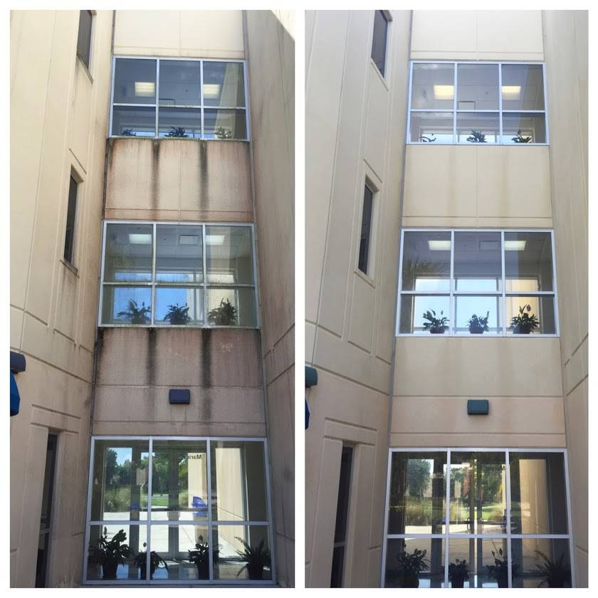 Commercial Building Pressure Cleaning