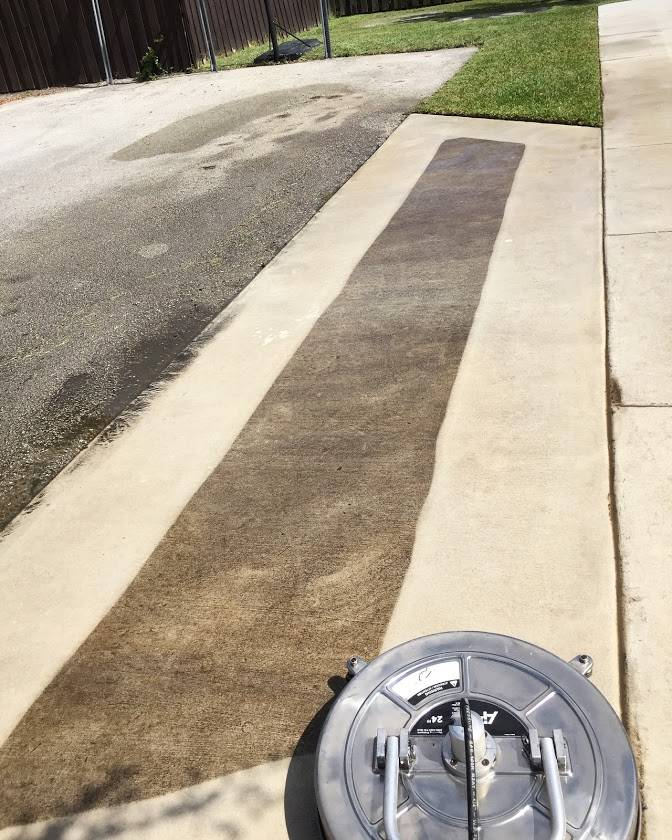 Curb And Concrete Pressure Cleaning