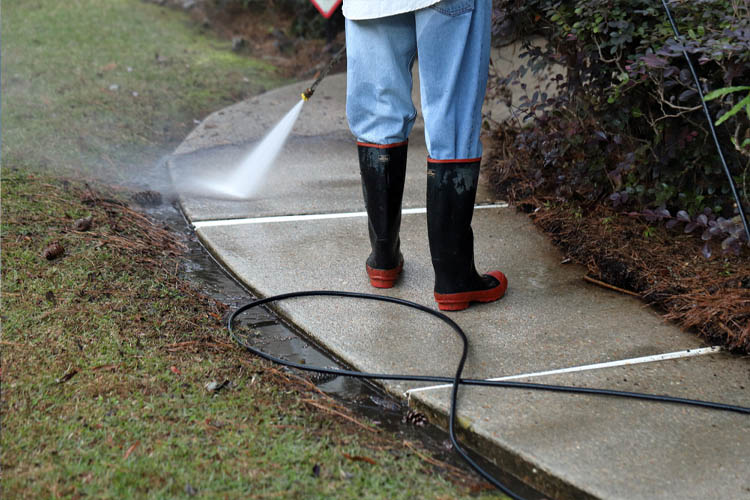 Power Washing Concrete Surfaces