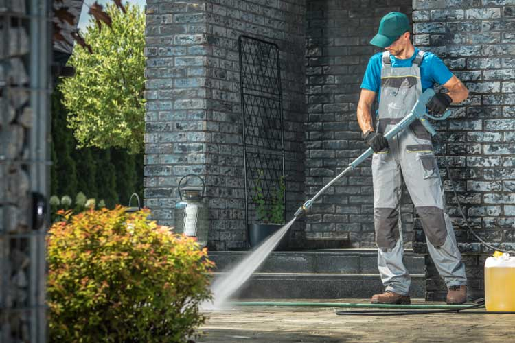 Pressure Wash Your Concrete And Seal It